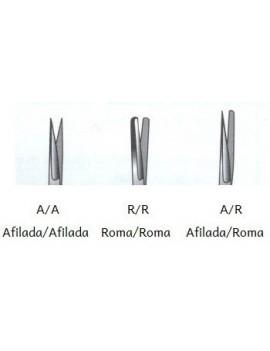 Tijeras de cirugía curvas 14cm