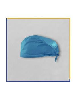 Gorro cirujano con cintas azul