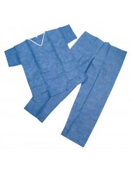 Pijama completo color azul SMS